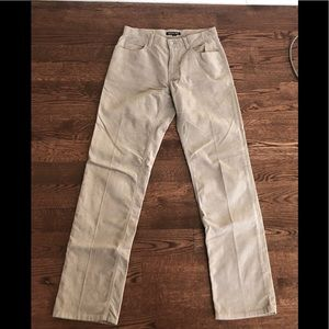 Michael Kors Tan Corduroy Pants Sz 30 MK Patch